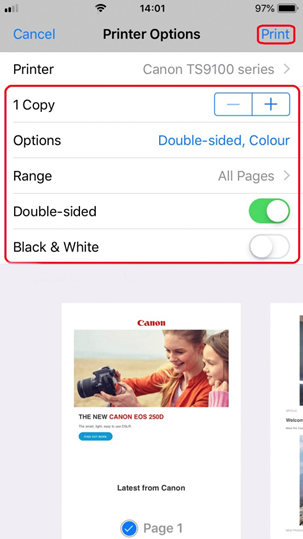 Apple AirPrint User Guide - Canon Ireland
